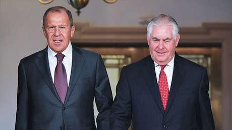 Serguéi Lavrov y Rex Tillerson (Foto de archivo)