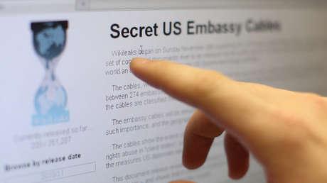 Un usuario de Internet lee la página de WikiLeaks.