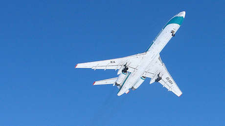 Un avión Tu-154 ruso