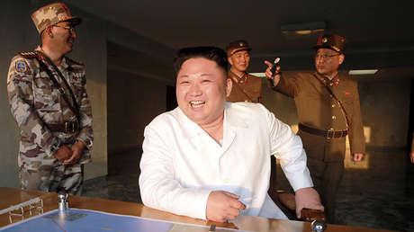 El líder norcoreano, Kim Jong-un, en una imagen difundida el 30 de mayo de 2017 por la Agencia Central de Noticias de Corea.