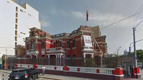 La sede de la Embajada de Venezuela en Perú.