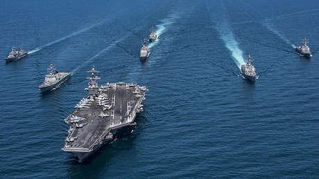 Destructores surcoreanos y estadounidenses en el Pacífico, el 3 de mayo de 2017.