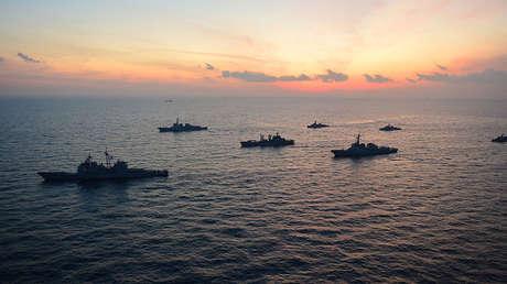 Fotografía de archivo: ejercicios conjuntos de EE.UU. y Corea del Sur en el mar del Japón.