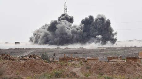 Ataque de las fuerzas aeroespaciales rusas en Deir ez Zor, 30 de abril de 2017.