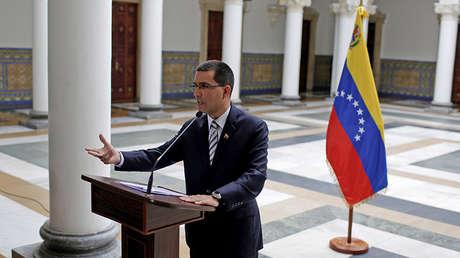 El ministro de Relaciones Exteriores de Venezuela, Jorge Arreaza.