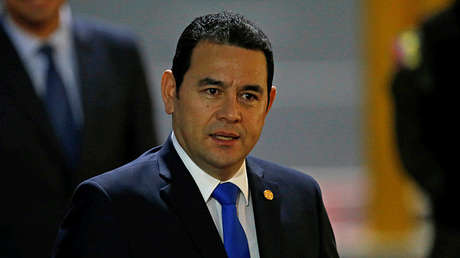 El presidente de Guatemala, Jimmy Morales, en Quito, Ecuador, el 23 de mayo de 2017.