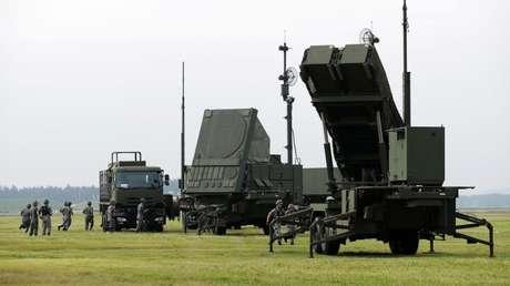 Un complejo de defensa antimisiles Patriot, de fabricación estadounidense, desplegado a las afueras de Tokio.