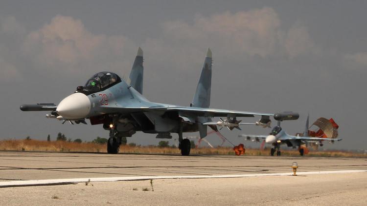 La aviación rusa destruye más de 900 objetos de terroristas en una semana en Siria