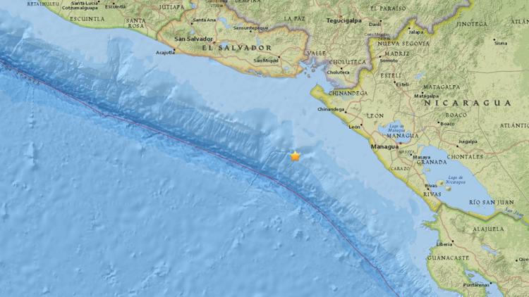 Un sismo de 5,1 sacude la costa de Nicaragua