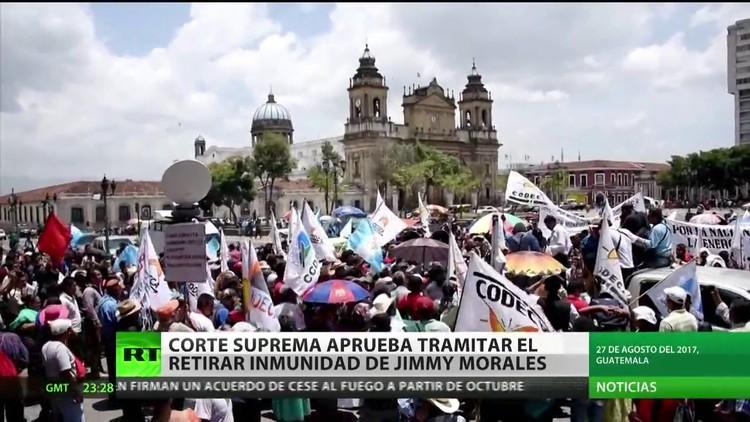 La Corte Suprema de Guatemala aprueba retirar el privilegio de inmunidad del presidente