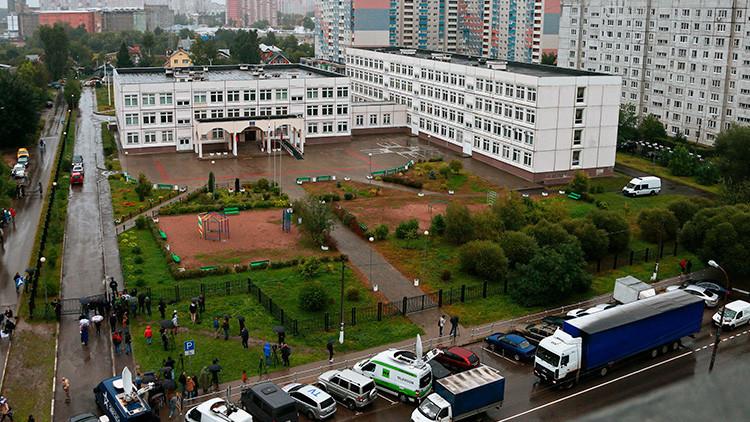 VIDEO: El momento exacto del tiroteo en la escuela de la región de Moscú