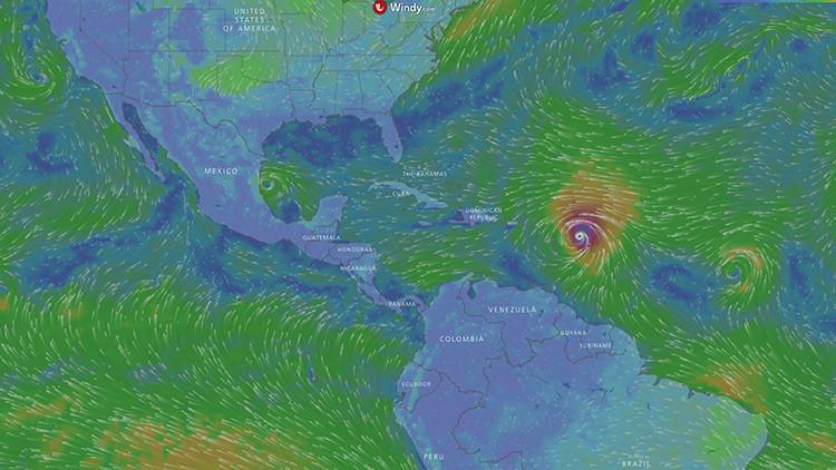 """Mapa: """"El huracán más fuerte"""" jamás visto en el Atlántico se dirige hacia el Caribe y EE.UU."""