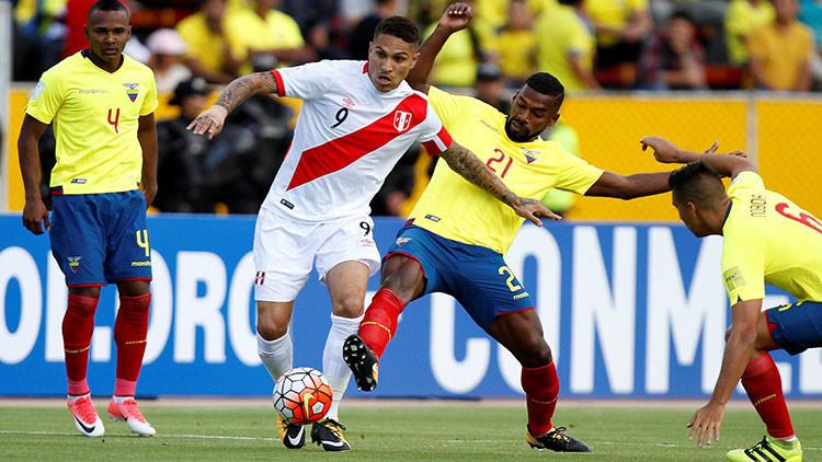 Perú vence a Ecuador en partido de clasificación para el Mundial de Rusia