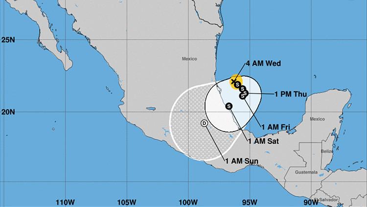 Se forma la tormenta tropical Katia frente a la costa de México