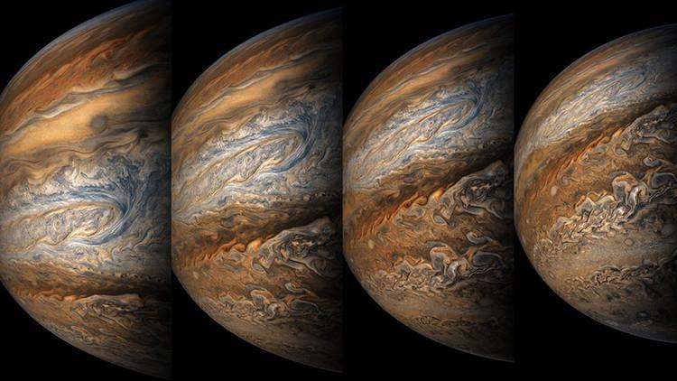 FOTOS: La sonda espacial Juno toma espectaculares imágenes de tormentas en Júpiter