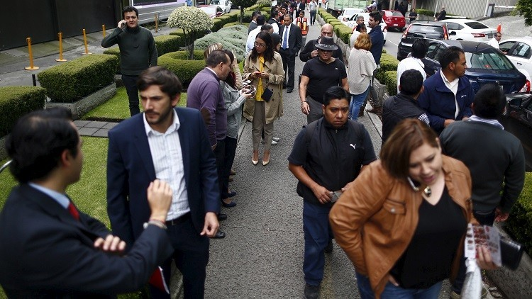 Salta una falsa alarma de sismo en varios barrios de la capital de México