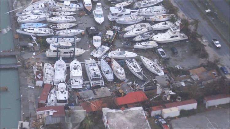 VIDEO: Imágenes aéreas de la isla de San Martín arrasada por el huracán Irma
