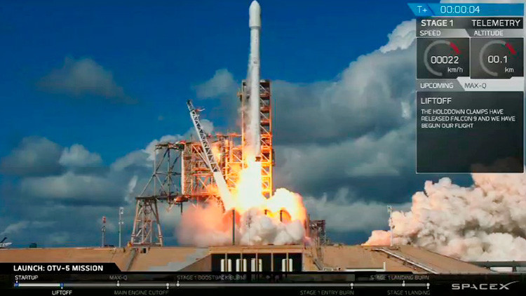 VIDEO: SpaceX lanza una nave secreta para el Pentágono