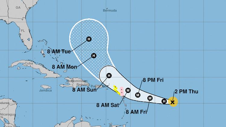El huracán José alcanza la categoría 2 y sigue el camino de Irma