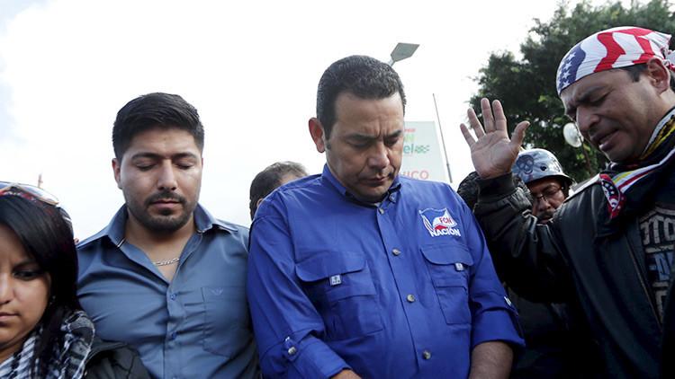 El presidente de Guatemala pide a Dios que su mandato termine en 2020