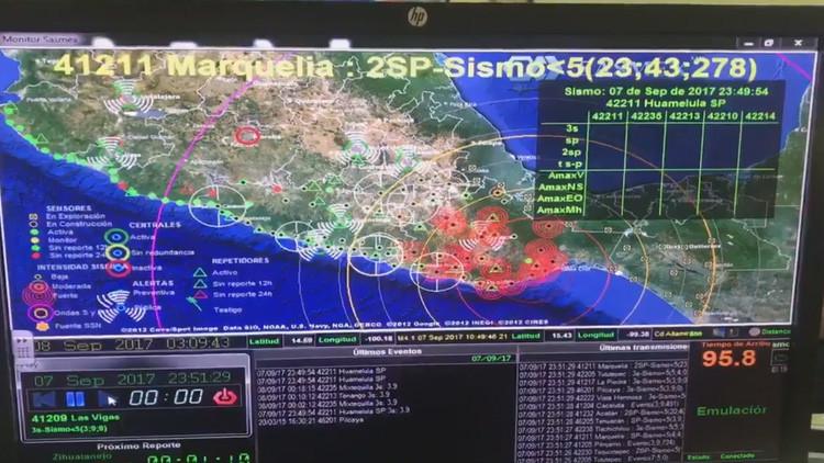VIDEO: Así se activaron los sensores que detectaron el terremoto en México