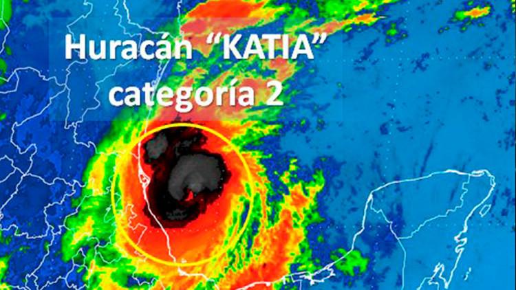 El huracán Katia se fortalece hasta la categoría 2