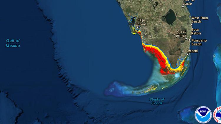 Estas son las marejadas ciclónicas e inundaciones que Irma puede causar en Florida (Mapas)