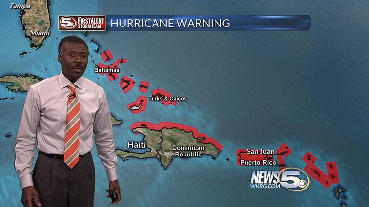 El 'mejor' hombre del tiempo se viraliza en la Red por sus instructivos pronósticos sobre Irma