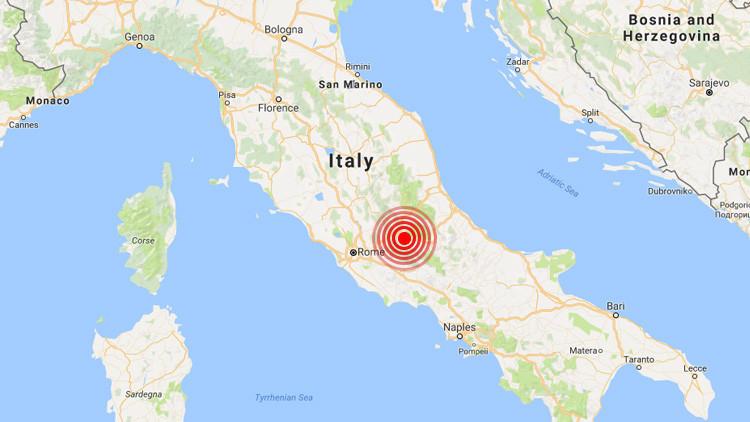 Se registra en Italia un terremoto de 3,9