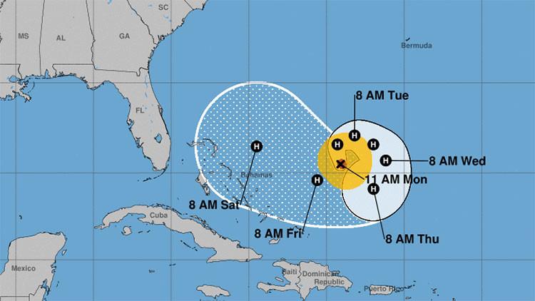Pronostican un alarmante giro del huracán José en dirección a Florida y Bahamas