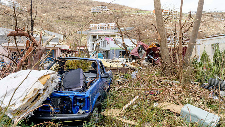 """Varias islas caribeñas, """"no aptas para vivir"""" tras el paso del huracán Irma"""