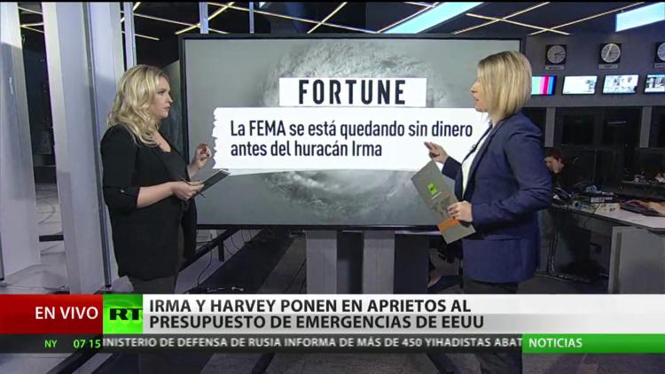Irma y Harvey ponen en aprietos al presupuesto de emergencias de EE.UU.