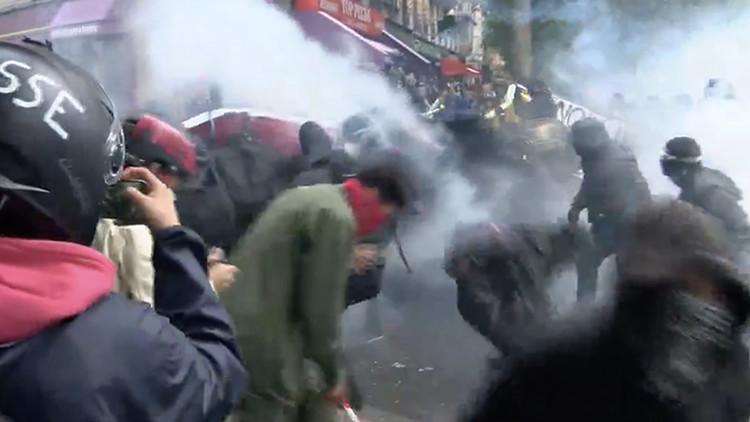 VIDEO: Violencia en París, por las nuevas reformas laborales