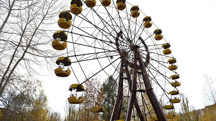 Atracción de Chernóbil: Ponen en marcha la noria de la ciudad fantasma de Prípiat (video)