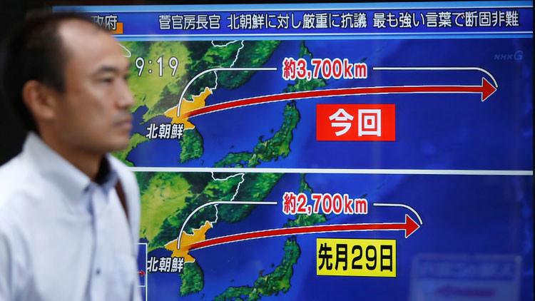 Japón no consideró necesario derribar el misil de Corea del Norte