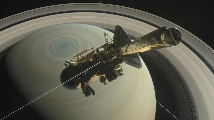 Esta es la última fotografía que envió la sonda Cassini antes de desintegrarse