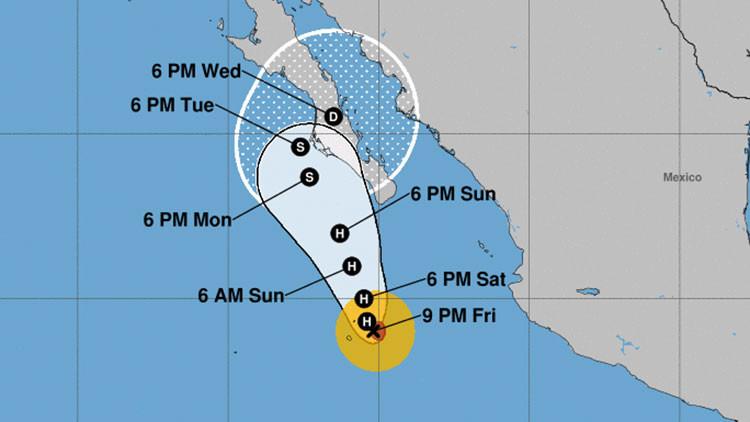 Norma se aproxima a México en forma de huracán