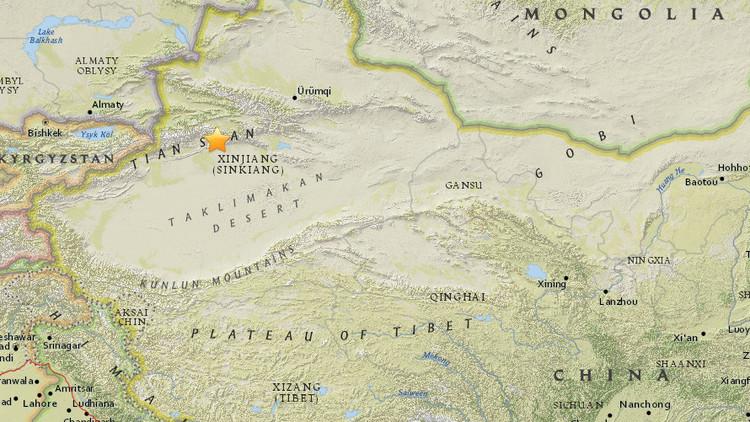 Un sismo de 5,5 sacude una región en el noroeste de China