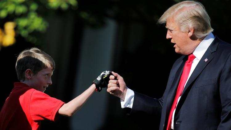 Niño de 11 años se ofrece para cortar el césped de la Casa Blanca y Trump acepta (FOTOS Y VIDEO)