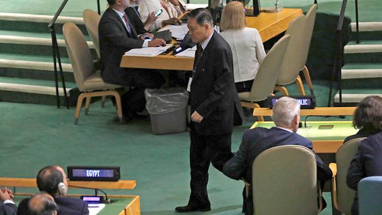El embajador norcoreano se retira antes del discurso de Trump en la ONU