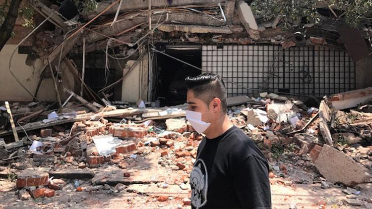 Reportan fugas de gas e incendios en la Ciudad de México tras el terremoto
