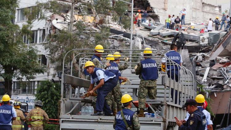 VIDEOS: El terremoto de Ciudad de Mexico, visto por un dron