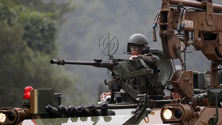 EE.UU. y Corea del Sur simulan retomar un pueblo próximo a la frontera con Corea del Norte