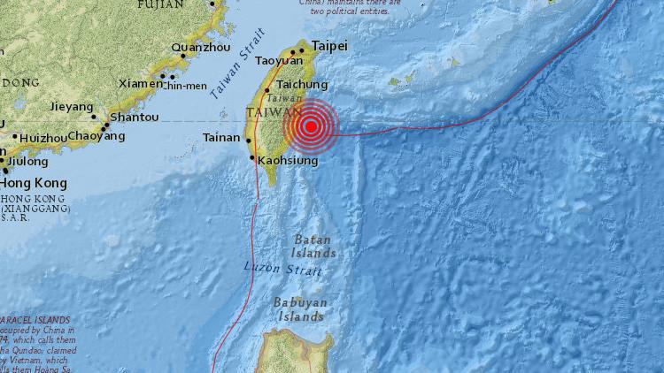Se registra un sismo de magnitud 5,3 al sur de Taiwán