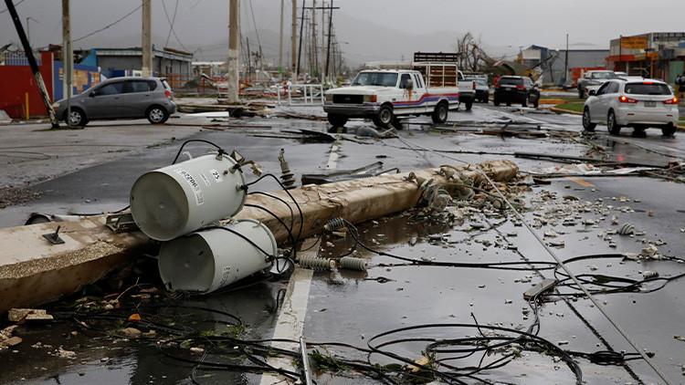 Huracán María deja sin energía eléctrica al 100 % de Puerto Rico