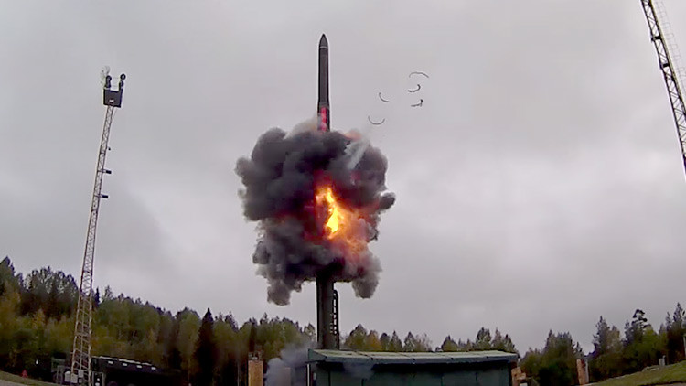 VIDEO: Momento exacto del lanzamiento del misil intercontinental ruso Yars