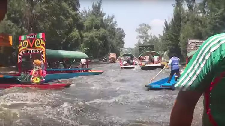 VIDEO: Así se sintió el fuerte terremoto durante un plácido paseo fluvial en México