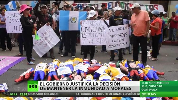 Guatemala: El Gobierno justifica la decisión de mantener la inmunidad a Morales