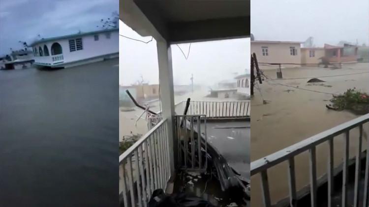 """""""Nos encomendamos al señor"""": Una familia queda atrapada en Puerto Rico por el paso del huracán María"""