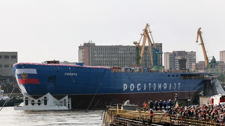 VIDEOS: Rusia bota el rompehielos más grande y potente del mundo